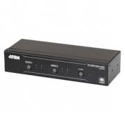 2× 2 Porty HDMI Maticový Přepínač Černá