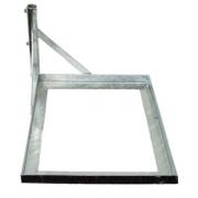 Základna na dlaždici pro anténní stožár 42mm - žár