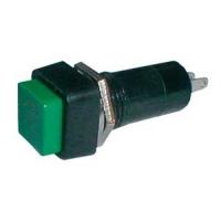Přepínač tlačítko čtv. OFF-(ON) 250V/1A zelené