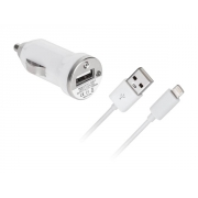 Adaptér   USB 12V/5V/1A autoadapter iPhone 5 kabel GSM0491