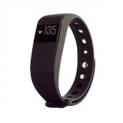 Fitness náramek s měřením tepu FT64S OLED, Bluetooth 4.0, Android+iOS černá
