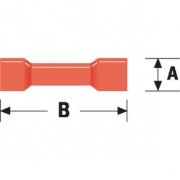 Konektor Fast On 4.0 mm Zásuvka PVC Červená