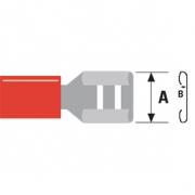 Konektor Fast On 6.3 mm Zástrčka PVC Červená
