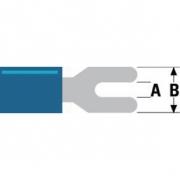 Konektor Fast On 5.3 mm Zásuvka PVC Modrá