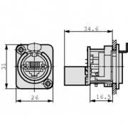 Počítač RJ45 Stříbrná