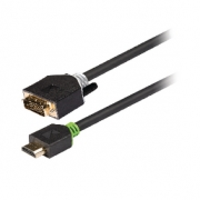 High Speed HDMI Kabel HDMI Konektor - DVI-D 24+1p Zástrčka 2.00 m Antracit