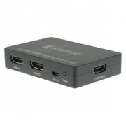 2-Port HDMI Přepínač Tmavě Šedá