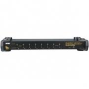 8-Port KVM Přepínač Černá