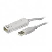Aktivní Prodlužovací Kabel USB 2.0 USB A Zástrčka - USB A Zásuvka 12 m Slonová Kost
