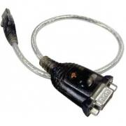 Kabel USB 2.0 USB A Zástrčka - Zástrčka DB9 0.35 m Šedá