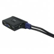2-Port KVM Přepínač Černá
