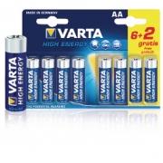 Alkalická Baterie AA 1.5 V High Energy 8-Propagační Blistr