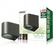 LED Venkovní Nástěnné Svítidlo 2.4 W 230 lm Tmavě šedá
