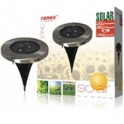 Solární Reflektor 2 LED Kruhová