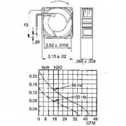 Ventilátor AC 80 x 80 x 38 mm