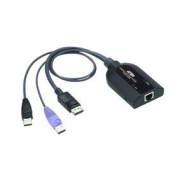 KVM Kabel s Adaptérem USB / DisplayPort 0.25 m