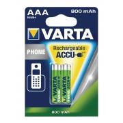 Dobíjecí NiMh Baterie AAA 1.2 V 750 mAh 2-Blistr