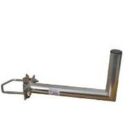 Držák antény 35cm s vinklem, (na stožár 25-89mm), trubka 42/2mm, zinek Galva