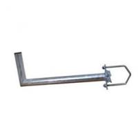Držák antény 35cm s vinklem, (na balkón 25-89mm), trubka 42/2mm, zinek Žár