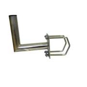 Držák antény 20cm s plotnou, (na stožár i balkón 35-90mm), trubka 42/2mm, zinek Žár