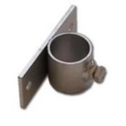 Držák stožáru 50mm (krátký pás) zinek Galva