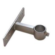 Držák stožáru 48mm, 10cm od zdi (delší pás), zinek Galva