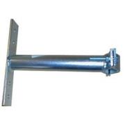 Držák stožáru 42-67mm, 25cm od zdi (s vlnkou a pásem kolmo), zinek Galva