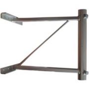 Držák stožáru 42mm Hrazda (60cm od zdi), zinek Galva