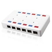 Víceportový box Solarix CAT5E UTP 12 x RJ45 bílý SX12-5E-UTP-WH