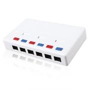Víceportový box Solarix CAT5E UTP 6 x RJ45 bílý SX6-5E-UTP-WH