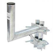 Držák antény 25cm s vinklem a vzpěrou, (na stožár 25-89mm), trubka 42/2mm, zinek Žár