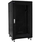 """19"""" Rack skříň S6622 (22U 600x600mm, pojízdná,matná, perforované dveře)"""