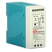 Průmyslový napájecí zdroj: Mean Well MDR-60-48 (SMPS, 48V, 60W, DIN lišta)