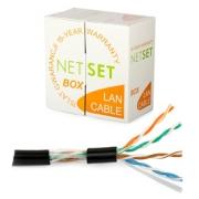 Kabel UTP Cat5e PE černý NETSET (venkovní) [1m]