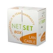 Kabel UTP Cat5e PE černý NETSET (venkovní) [305m]