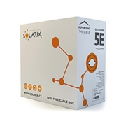 Kabel FTP Cat5e PE černý Solarix (venkovní) [1m]