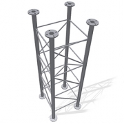Příhradový stožár čtyřboký 48-550-1500 - žár