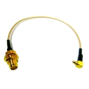 Pigtail 0,25m MMCX male / RSMA female kabel RG178U