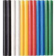 Tyčinky tavné, mix barev, pr.7,2x100mm, 12ks, EXTOL CRAFT