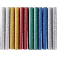 Tyčinky tavné, mix barev se třpytem (glitter), pr.11x100mm, 12ks EXTOL-CRAFT
