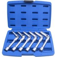 """Nástrčné kloubové klíče 3/8"""", na svíčky, velikost 8-16 mm, sada 6 kusů QUATROS"""