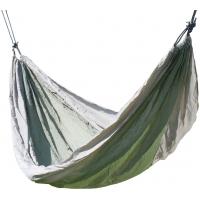 Houpací síť NYLON 275x137cm zeleno-hnědá CATTARA