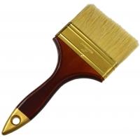 Štětec plochý, 100 mm, dřevěná rukojeť GEKO
