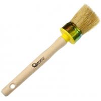 Štětec kulatý, 40 mm, dřevěná rukojeť GEKO