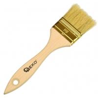 Štětec plochý, 50 mm, dřevěná rukojeť GEKO