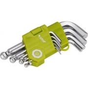 L-klíče imbus krátké, sada 9ks, 1,5-2-2,5-3-4-5-6-8-10mm, s kuličkou, EXTOL CRAFT