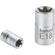 """Hlavice nástrčná vnitřní TORX, 1/4"""", E 4, L 25mm, 61CrV5, FORTUM"""