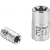 """Hlavice nástrčná vnitřní TORX, 1/4"""", E 8, L 25mm, 61CrV5 FORTUM"""
