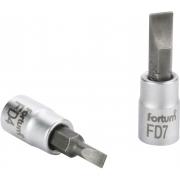 """Hlavice zástrčná šroubovák plochý, 1/4"""", 5,5mm, L 37mm, CrV/S2, FORTUM"""