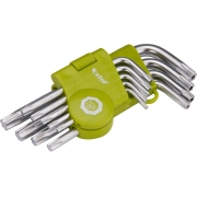 L-klíče TORX krátké, sada 9ks, T 10-15-20-25-27-30-40-45-50, EXTOL CRAFT